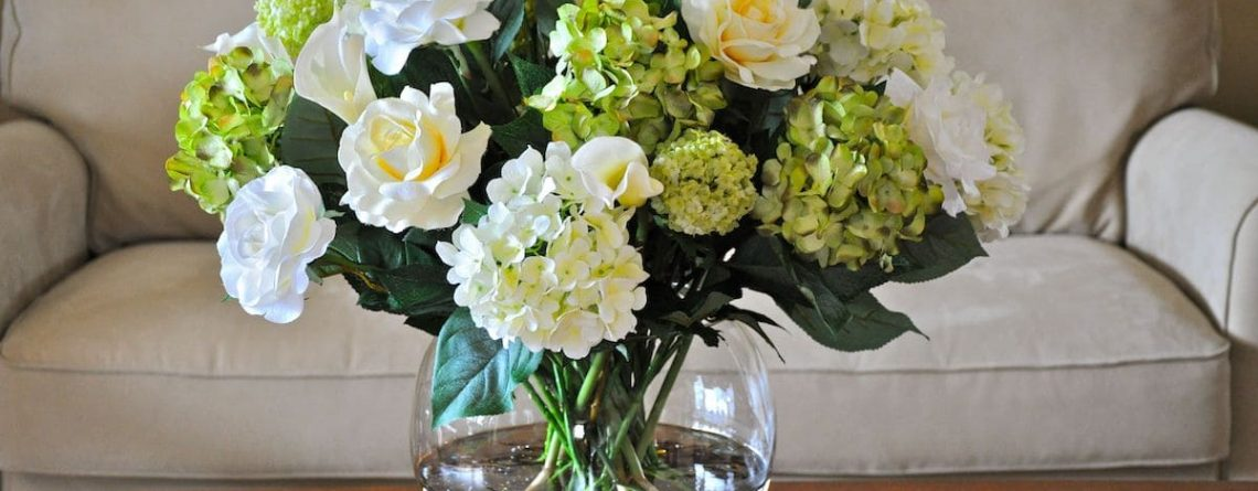 Silk Hydrangea Green Large